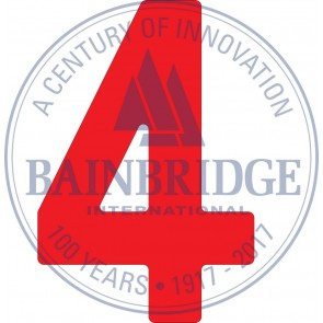 Bainbridge Zeilnummer 300 mm rood 4