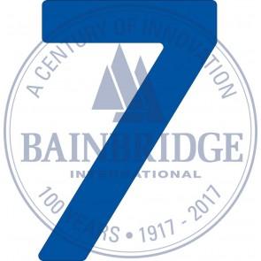 Bainbridge Zeilnummer 300 mm blauw 7