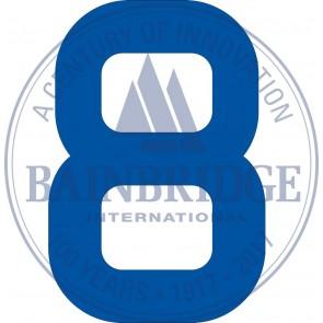 Bainbridge Zeilnummer 300 mm blauw 8